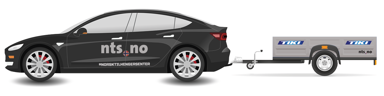 Tesla med tilhenger
