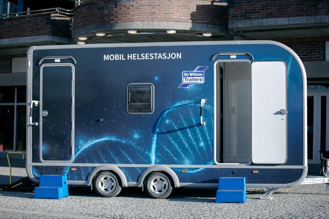 Mobil helsestasjon tilhenger